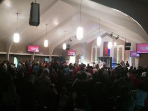 The Way Church, 300+ worshipping in the Calvary Baptist facility.