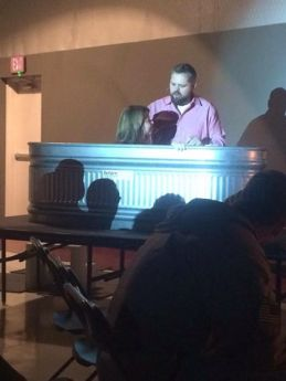 Baptisms at First West Fairbanks in 2014.