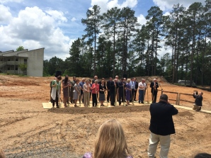 Groundbreaking for the Georgia Barnette Conference Center